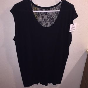 Ladies 1X Black Top by Relativity